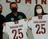 Visita de Eduardo Paes gerou problema judicial ao Flu. (Reprodução/Redes Sociais)