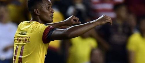 Atualmente no futebol chinês, o atacante equatoriano Fidel Martìnez ainda é o artilheiro da atual edição da Libertadores. (Arquivo Blasting News)
