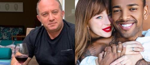 Pai de Duda Reiz, Luiz Fernando Barreira, crítica Nego do Borel após fotos sensuais com Anitta. (Fotomontagem)
