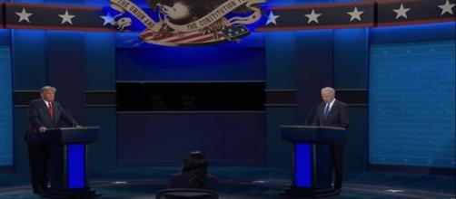 An image from the third Presidential debate. [image Source: PBS NewsHour/YouTube]
