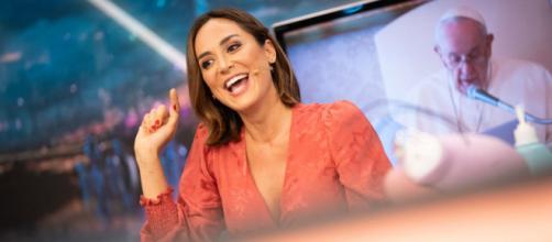 La influencer y futura marquesa de Griñón, Tamara Falcó, contó su anécdota con el papa Francisco en el programa 'El hormiguero'.