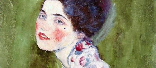 'Portrait of a Lady,' 1916, is atypical for Gustave Klimt. [Peter/Flickr]