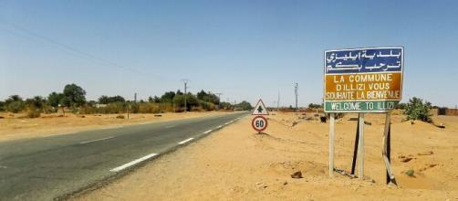 Ancienne route de la commune d'Illizi. Crédit photo : wikimedia.org