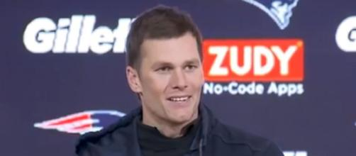 Brady found immediate connection with Brown. [Image Source: New England Patriots/YouTube]
