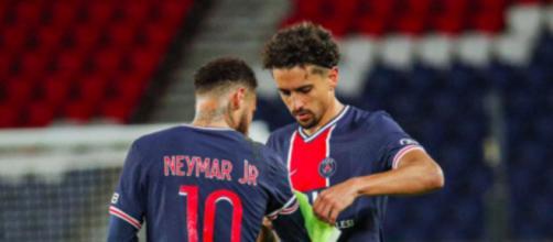 Les joueurs de Dijon clashent ceux du PSG photo twitter PSG