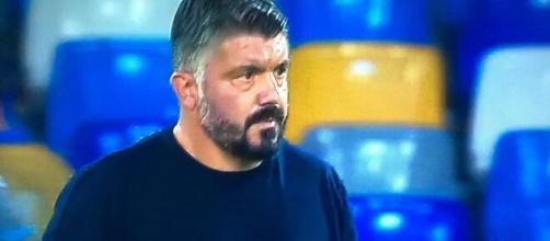 Rino Gattuso, tecnico del Napoli.
