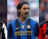 Ibrahimovic está entre os jogadores que defenderam os três gigantes da Itália. (Fotomontagem)