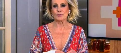 Ana Maria Braga aparece com mão imobilizada no 'Mais Você'. (Reprodução/TV Globo)