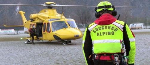 Elicottero precipita a Cervinia.