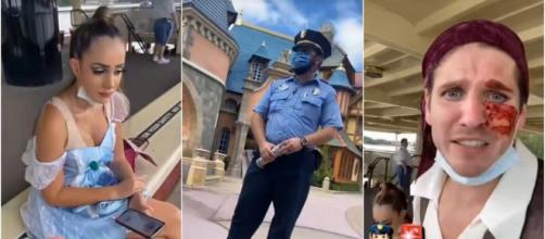 10 Couples Parfaits 4 : Sebydaddy, Léa Mary et Bryan se sont fait bannir de Disneyland car ils ne portaient pas leurs masques dans le parc.