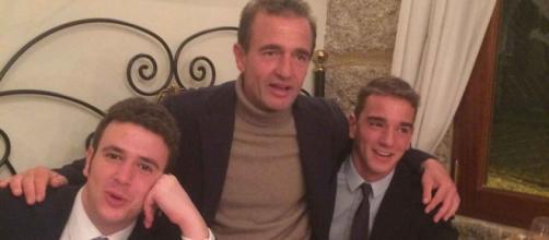 Clemente Lequio (derecha) habló en un emotivo vídeo sobre su padre (centro) y su hermano (izquierda).