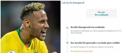 PF realiza buscas na casa de suspeito de usar nome de Neymar para receber auxílio. (Fotomontagem)