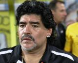 Diego Armando Maradona, tecnico del Gimnasia La Plata.