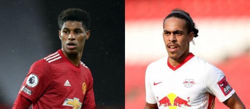 Manchester United e RB Leipzig se enfrentam pela segunda rodada da Liga dos Campeões. (Fotomontagem)