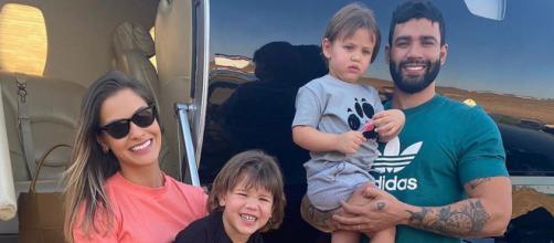 Andressa Suita naga que proibiu Gusttavo Lima de visitar as crianças. (Arquivo Blasting News)
