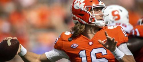 Clemson QB Trevor Lawrence tests positive for Covid-19 and is ...(Image via CBSSports/Youtube)