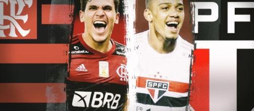 Pedro, do Flamengo e Brenner, do São Paulo estão entre as opções mais econômicas do Cartola FC. (Arquivo Blasting News)