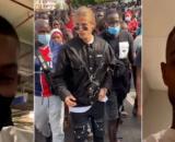 Dylan Thiry en voyage humanitaire en Afrique, il profite d'une manifestation pour faire croire à une rencontre avec ses fans sénégalais.