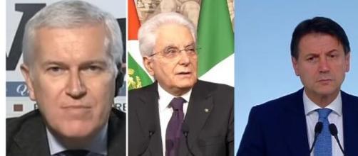 Maurizio Belpietro, Sergio Mattarella, Giuseppe Conte.
