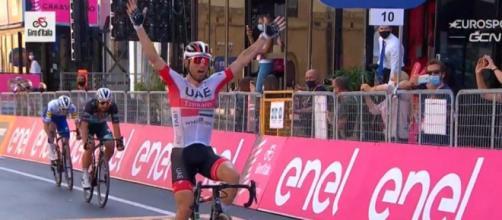 La vittoria di Diego Ulissi nella tappa di Agrigento.