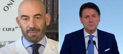 Matteo Bassetti, infettivologo del San Martino di Genova e Giuseppe Conte.