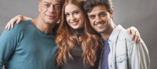 """Arthur, Eliza e Jonatas em """"Totalmente Demais"""". (Reprodução/TV Globo)"""