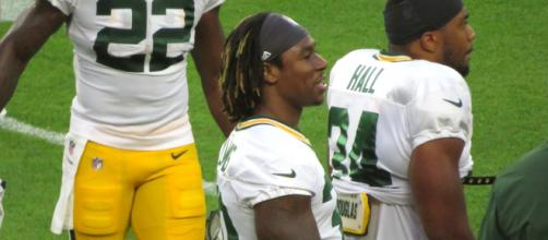Jamaal Williams had eight receptions on Monday night. [Image Source: Flickr | David Beasley]