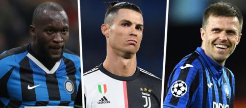 Lukaku, Cristiano Ronaldo e Papú Goméz são os artilheiros da atual edição do Calcio. (Arquivo Blasting News)