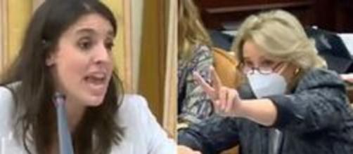Huffington post. La ministra de Igualdad Irene Montero y la diputada de Vox Lourdes Méndez protagonizaron un áspero debate en el congreso