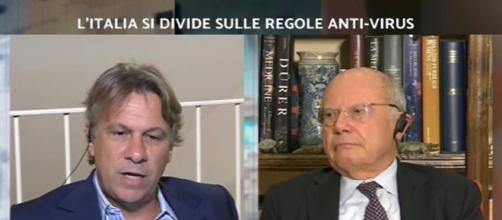 Stasera Italia: scontro tra Nicola Porro e Massimo Galli.