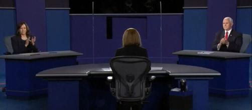 A Vice Presidential debate takes place between each Presidential candidate's running mate. [Image Source: Global News/YouTube]