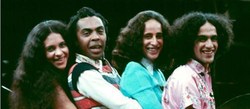 Gal Costa, Gilberto Gil, Maria Bethânia e Caetano Veloso que formaram os Doces Barbáros. (Arquivo Blasting News)
