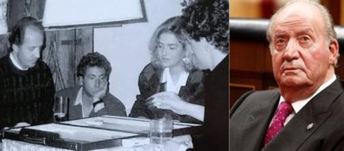 Jugando a backgammon, Alessandro Lequio, el rey Juan Carlos I y familia en 1986, según la publicación de Instagram