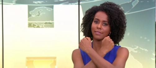 Maria Julia Coutinho fica frente a frente com seu agressor verbal. (Reprodução/TV Globo)