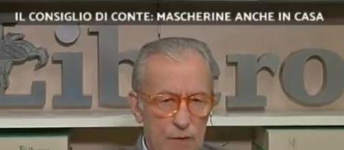 Mascherine anche in casa: Feltri si schiera con il governo Conte.
