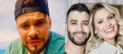 Ex-cunhado ataca Gusttavo Lima após separação. (Reprodução/Redes Sociais)