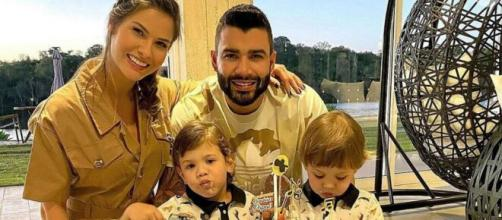 Gusttavo Lima e Andressa Suita teriam anunciado separação. (Arquivo Blasting News)