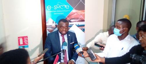 Le Dr Christian Tcham, le 08 septembre 2020, lors du lancement de l'application e-same (c) Odile Pahai