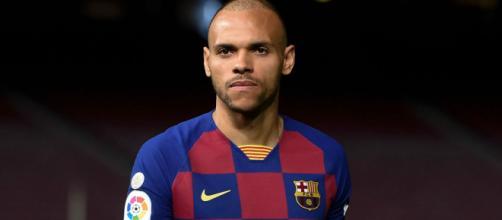 Martin Braithwaite é o novo camisa 9 do Barcelona. (Arquivo Blasting News)