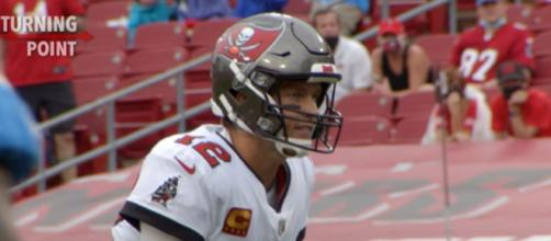 The Buccaneers look up to Brady as a leader and an example. [Image Source: NFL Films/YouTube]