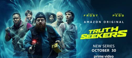Amazon estreia série 'Truth Seekers', criação de Simon Pegg e Nick Frost. (Reprodução/Amazon Vídeo)