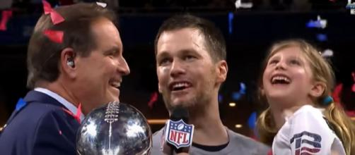 Brady's mom was present during the quarterback's Super Bowl LIII win. [Image Source: NFL/YouTube]