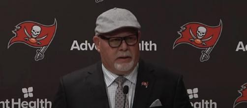 Arians failed to make the necessary adjustments vs Saints. [Image Source: Tampa Bay Buccaneers/YouTube]