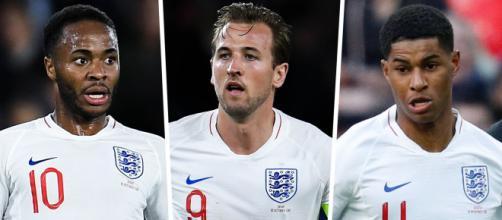 Inglaterra tem ótima safra de jogadores jovens. (Fotomontagem)