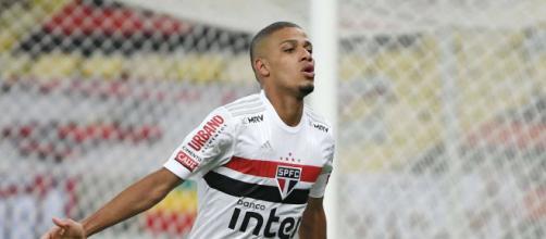 Brenner fez os dois gols do Tricolor na primeira partida das quartas de final (Arquivo Blasting News)