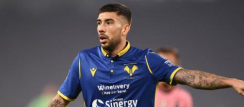 Mattia Zaccagni, centrocampista offensivo dell'Hellas Verona.