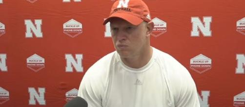 Scott Frost's pic featuring his 3 years with the Huskers is reaching viral proportions. [Image Source: HuskerOnline Video/ YouTube]