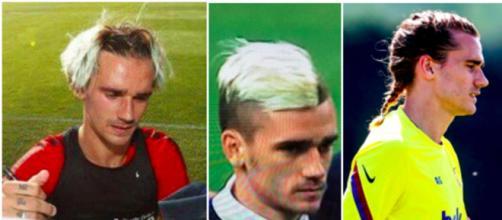 Antoine Griezmann vers une nouvelle coupe de cheveux ? Photo montage capture d'écran Twitter