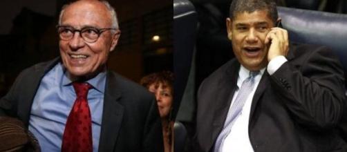 Eduardo Suplicy (PT) e Milton Leite (DEM) foram eleitos os vereadores mais votados da capital paulista. (Fotomontagem)