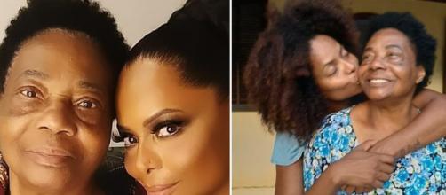 Morre a mãe da dançarina Adriana Bombom sem se despedir da filha. (Fotomontagem)